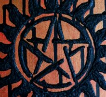 Supernatural Anti Possession Textured Abstract Sticker