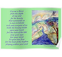 Poetry in Art - Cry me a River Poster