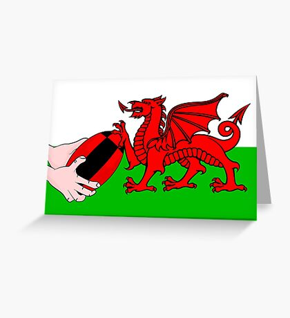 Wales Rugby Flag Greeting Card