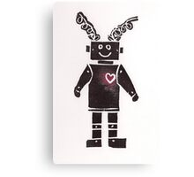 Heart Robot Canvas Print