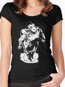 The Rocketeer - Black BG Women's Fitted Scoop T-Shirt