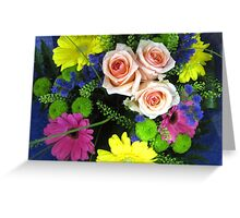 BOUQUET OF FLOWERS - THROW PILLOW Greeting Card
