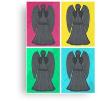 Weeping Angels Pop Art Canvas Print