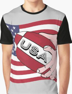 Rugby USA Flag Graphic T-Shirt
