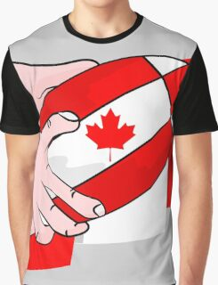 Canada Rugby Flag Graphic T-Shirt