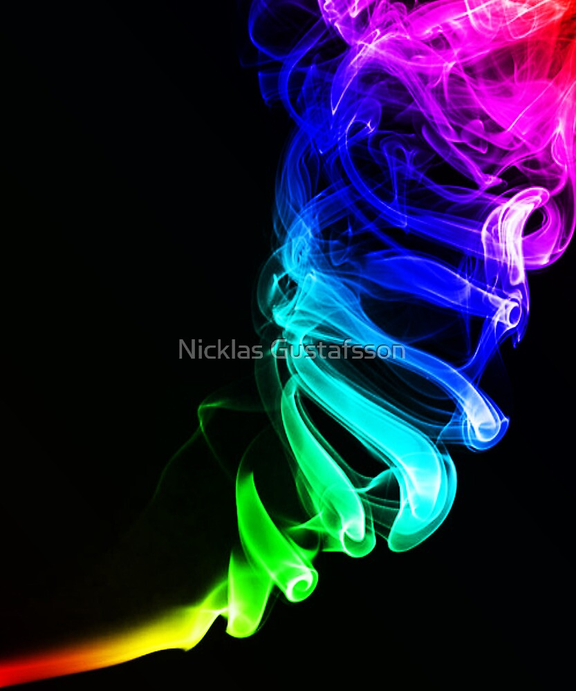 Rainbow smoke by Nicklas Gustafsson
