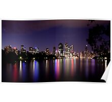 Stars Clouds & City Lights Poster