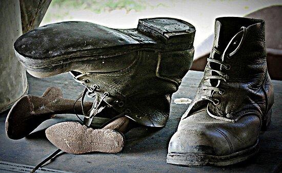 Old boots by Karen Tregoning