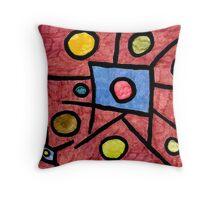 Circular Squares  Throw Pillow