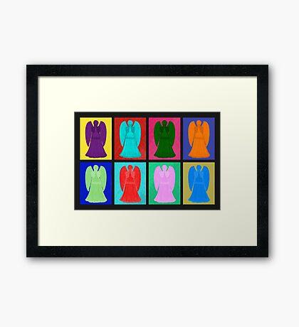 Weeping angels Pop Art Colour Framed Print