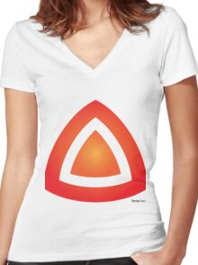 Molten Core Women's Fitted V-Neck T-Shirt