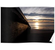 Boat ramp at dawn Poster