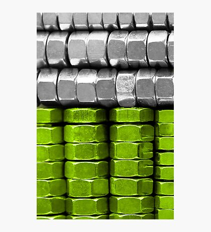 Absolutely Nuts Lime Green Wall Art III Photographic Print