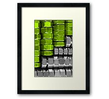 Absolutely Nuts Lime Green Wall Art II Framed Print