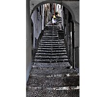 Walking up the stairs in Bellagio Photographic Print