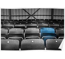 Blue Seat in the Football Stand Poster