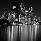 Black and White City Lights by Lincoln Stevens
