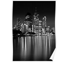 Black and White City Lights Poster