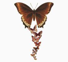 Vintage Butterflies (Updated) Kids Tee