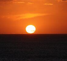 Tresaith - Glorious Sunset by Annie Lovelass