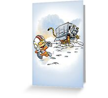 Attack of the Deranged Killer Snow Walkers Greeting Card