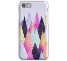 Colorful Abstract Geometric Triangle Peak Wood's  iPhone Case/Skin