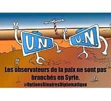 Caricature Options Binaires les moniteurs de l'ONU en Syrie Photographic Print