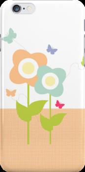 Butterflies & Flowers by sweettoothliz