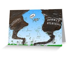 Binary Options News Cartoon Twin Twisters Greeting Card