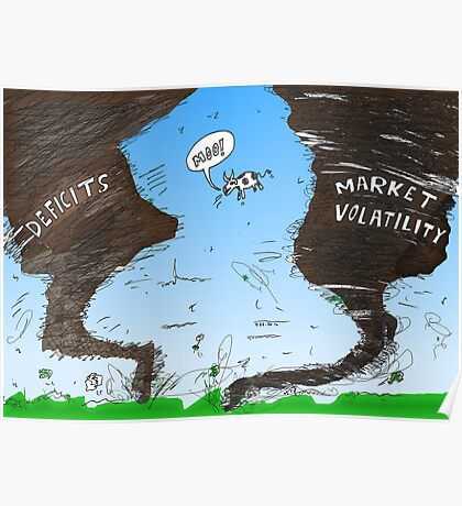 Binary Options News Cartoon Twin Twisters Poster