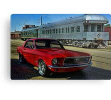 "1968 Mustang ""At the Station"" Metal Print"