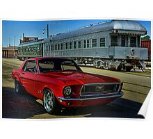 "1968 Mustang ""At the Station"" Poster"