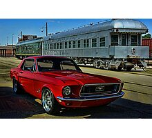 "1968 Mustang ""At the Station"" Photographic Print"