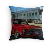 "1968 Mustang ""At the Station"" Throw Pillow"