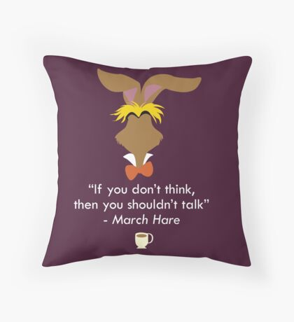 The March Hare Throw Pillow