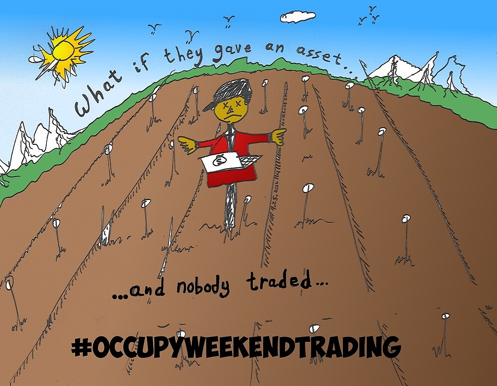 Binary Options News Carticature Occupy Weekend Trading by Binary-Options