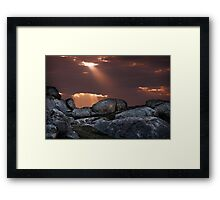 Rays at the Rocks Framed Print