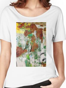 Peeling tree trunk Close-up Women's Relaxed Fit T-Shirt