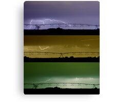 Lightning Warhol  Abstract Canvas Print