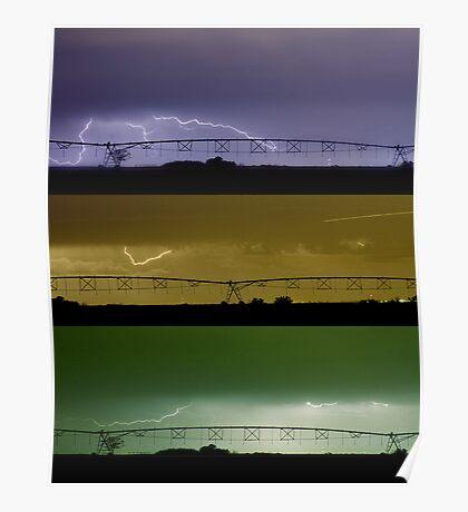 Lightning Warhol  Abstract Poster