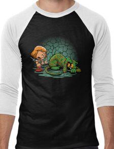Afraid of Your Own Shadow Men's Baseball ¾ T-Shirt