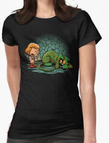 Afraid of Your Own Shadow Womens Fitted T-Shirt