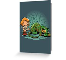 Afraid of Your Own Shadow Greeting Card
