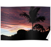 Sun Set from home Poster