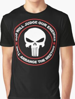 god will judge our enemies we'll arrange the meeting - red Graphic T-Shirt