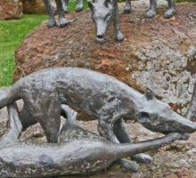 Thylacine Sculpture Sticker