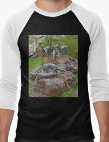 Thylacine Sculpture Men's Baseball ¾ T-Shirt