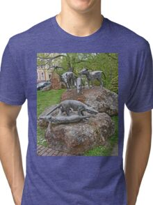 Thylacine Sculpture Tri-blend T-Shirt