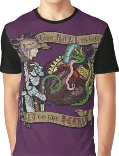 The Mind is the Key to the Heart (royal purple) Graphic T-Shirt