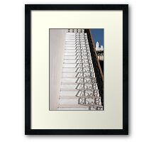 Shadowy Stairs Framed Print